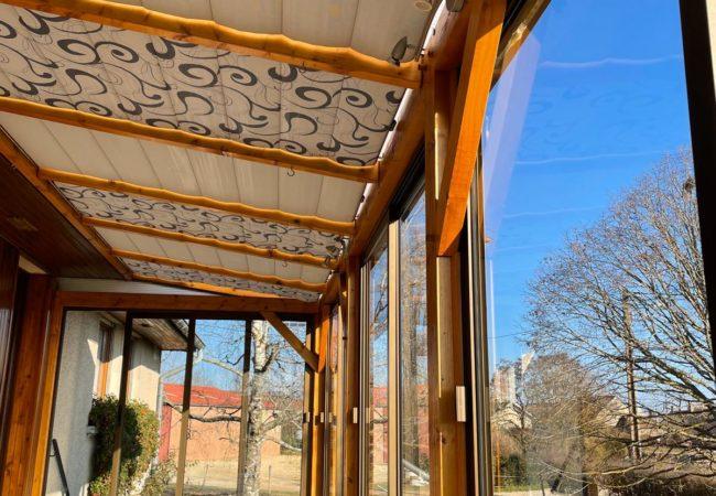 Stores intérieurs de véranda anti-chaleur